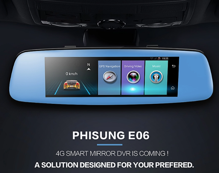 """Xe thông minh Android 4G dv adas FHD 1080P Dash Cam 7.84 """"TFT G-Sensor Night Vision xe ô tô màu đen"""