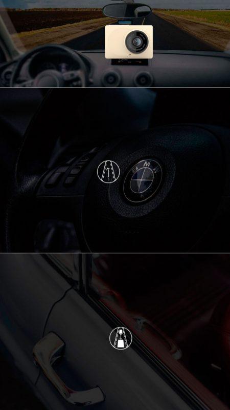 Camera hành trình Xiaomi Yi Smart Car DVR thiết kế đẹp cho xe ô tô