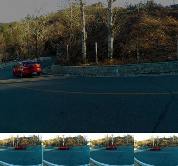 các góc nhìn từ thiết bị camera hành trình Xiaomi Yi Smart Car DVR