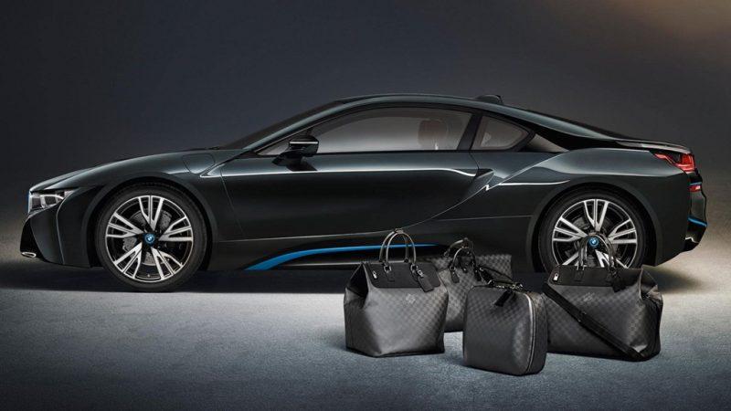 Túi đựng hành lý Louis Vuitton trên BMW i8