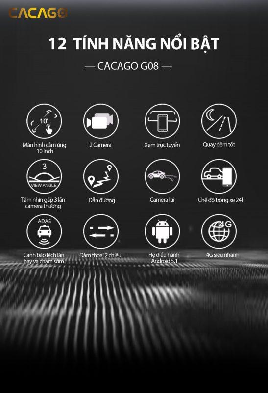 12 tính năng nổi bật của cacago G08