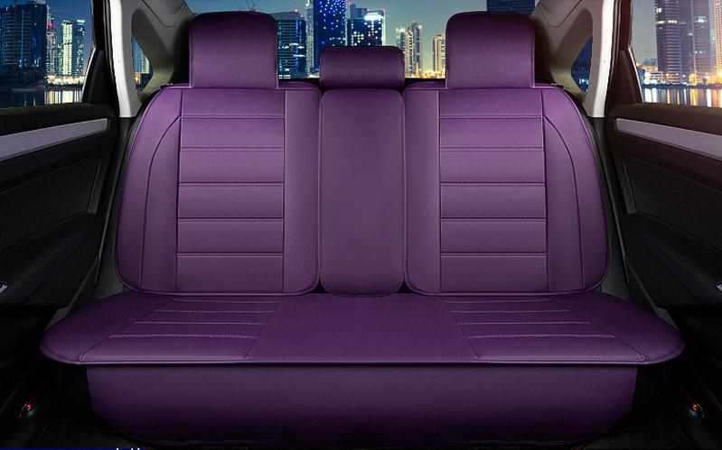 mẫu áo bọc ghế xe ô tô màu tím