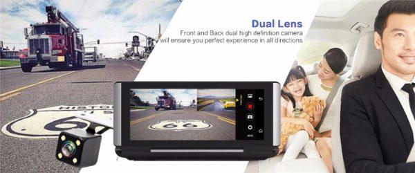 Camera ghi hình trước sau Full HD 1080P | 1920x1080p / 30fps (Có thể tùy chọn độ phân giải)