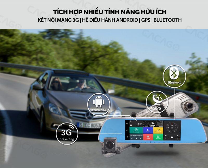 camera hành trình cacago c08a tích hợp mạng 3g với nhiều tính năng hữu ích