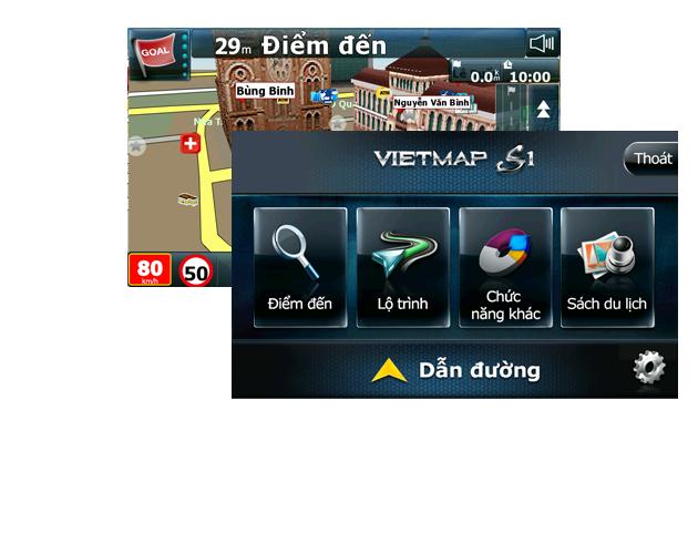 Phần mềm dẫn đường thông minh VIETMAP S1