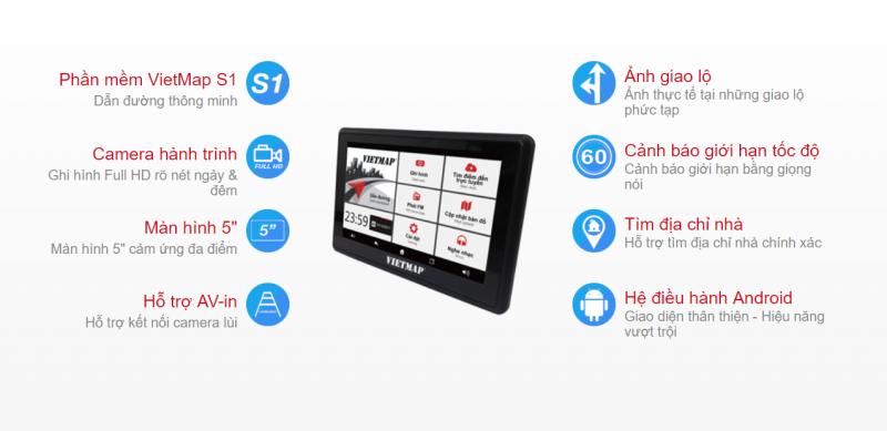 Vietmap W810 Trang bị hệ điều hành Android