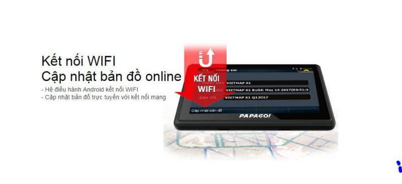 Kết nối WIFI Cập nhật bản đồ online